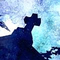 Blue Cross by Mark J Dunn