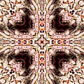 Cross Of Wooden Beads Warp Abstract by Rose Santuci-Sofranko