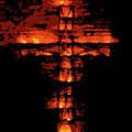 Cross On Fire by Andrea Mazzocchetti