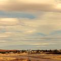 Cross Road In New Mexico by Susanne Van Hulst