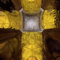 Cross Shaped Nave Ceiling With Pillars And Stained Glass Windows by Reimar Gaertner