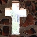 Cross Shaped Window In Chapel  by Colleen Cornelius