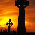 Crosses At Sunset by Carl Purcell