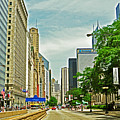 Crossing Chicago's South Michigan Avenue by Lydia Holly