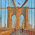 Crossing The Brooklyn Bridge by Digital Photographic Arts