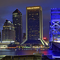 Crossing The Main Street Bridge - Jacksonville - Florida - Cityscape by Jason Politte