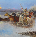 Crossing The River by Charles Marion Russell