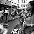 Crossing The Street Mono by John Rizzuto