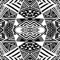 Crossroads To Ornamental - Abstract Black And White Graphic Drawing by Nenad Cerovic