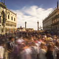 Crowded On St. Mark's Square by Ludwig Riml