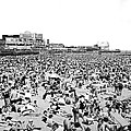 Crowds At Coney Island Beach by Underwood & Underwood