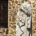 Crowned Statue - Toledo Spain by Jon Berghoff