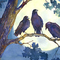 Crows In Moonlight by Peggy Wilson