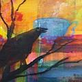 Crow's Invitation To Tea  by Robin Maria Pedrero