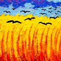 Crows Over Vincent's Field by John  Nolan