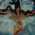 Crucified Woman Surreal I by Ramon Martinez