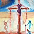 Crucifixion Of Jesus by Stanley Morganstein