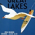 Cruise Across The Great Lakes - Canadian Pacific - Retro Travel Poster - Vintage Poster by Studio Grafiikka