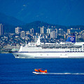 Cruise Ship In Vancouver by Carl Purcell