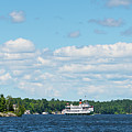Cruise Ship On Lake Muskoka by Les Palenik