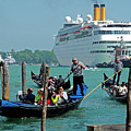Cruise Ship Port Of Venice by Dennis Cox