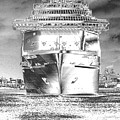 Cruise Ships In Chrome by Carol Groenen