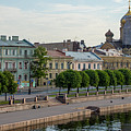Cruise Ships Lieutenant Schmidt Embankment St Petersburg Russia by Clare Bambers