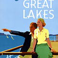Cruise The Great Lakes Vintage Travel Poster by Vintage Treasure