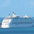 Cruiseship At Dockyard Bermuda by Ian  MacDonald