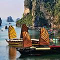 Cruising Ha Long Bay  Vietnam by Chuck Kuhn