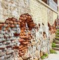 Crumbling Wall by Lorraine Baum