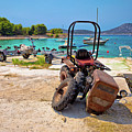 Crushed Tractor By The Sea On Island Prvic by Brch Photography