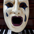 Crying Mask On Piano Keys by Garry Gay