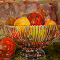 Crystal Bowl Of Fruit by Shirley Sykes Bracken