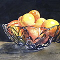 Crystal Bowl With Fruit by Shirley Sykes Bracken