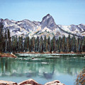 Crystal Crag From Twin Lakes Mammoth Ca by Arline Wagner