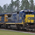 Csx 5955 Through Folkston Georgia by John Black