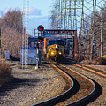 Csx Coming Towards Bound Brook Station by William Rogers
