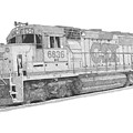 Csx Diesel Locomotive by Calvert Koerber