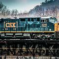 Cs X  Ge Engine 3046 On Trestle by Thomas Marchessault