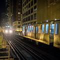 Cta Meet At The State-lake Street Station Chicago Illinois by Jim Pearson