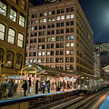 Cta Pulls Into The State-lake Street Station Chicago Illinois by Jim Pearson