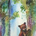 Cub Bear Climbing by Christy Freeman Stark