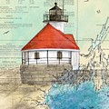Cuckolds Lighthouse Me Nautical Chart Map by Cathy Peek