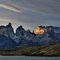 Cuernos Sunset Begins #4 - Patagonia by Stuart Litoff