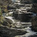 Cullasaja Falls In Autumn Close Up by John MacLean