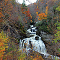 Cullasaja Falls In Autumn by Jennifer Robin