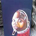 cultural Masaai Woman by Amos Murigi