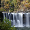 Cumberland Falls In Green by Bj Hodges