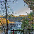 Cumberland Falls Ky From Eagle Falls Trail by Ina Kratzsch